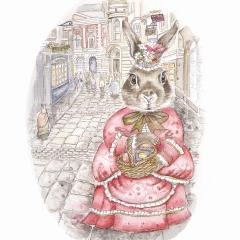 Rosie rabbit goes shopping