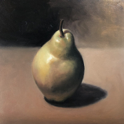 Oil study of a pear