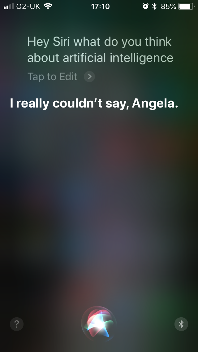 Siri's answer